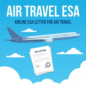 emotional support animal airline travel esa letter
