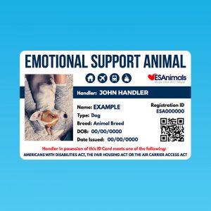 ESAnimals Emotional Support Animal ID Card